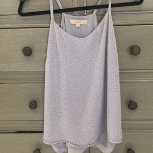 lavender and white LOFT blouse